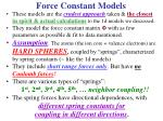 force constant models