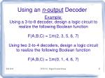 using an n output decoder1