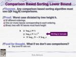 comparison based sorting lower bound