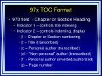 97x toc format