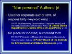 non personal authors d