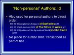 non personal authors d1