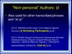 non personal authors d2
