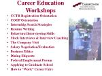 career education workshops