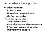 antecedents setting events