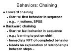 behaviors chaining