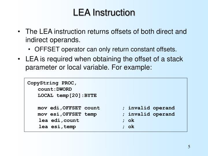 LEA Instruction