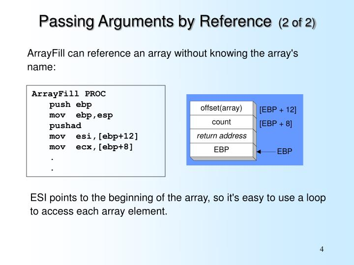 Passing Arguments by Reference