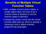 benefits of multiple virtual function tables