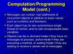 computation programming model cont