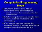 computation programming model