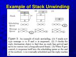 example of stack unwinding