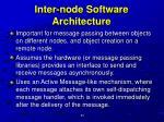 inter node software architecture