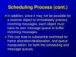 scheduling process cont