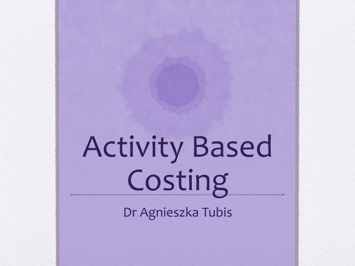 activity based costing n.