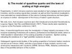 b the model of quasifree quarks and the laws of scaling at high energies