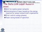 the data link layer research issues