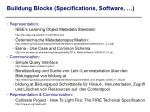 buildung blocks specifications software