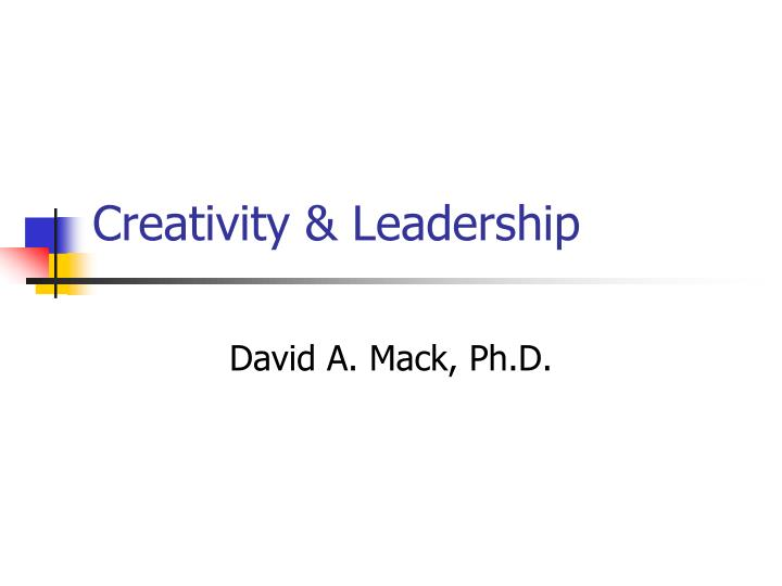 creativity leadership n.