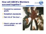 how will abcn s members succeed together