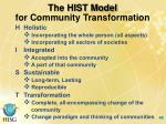 for community transformation