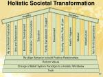 holistic societal transformation