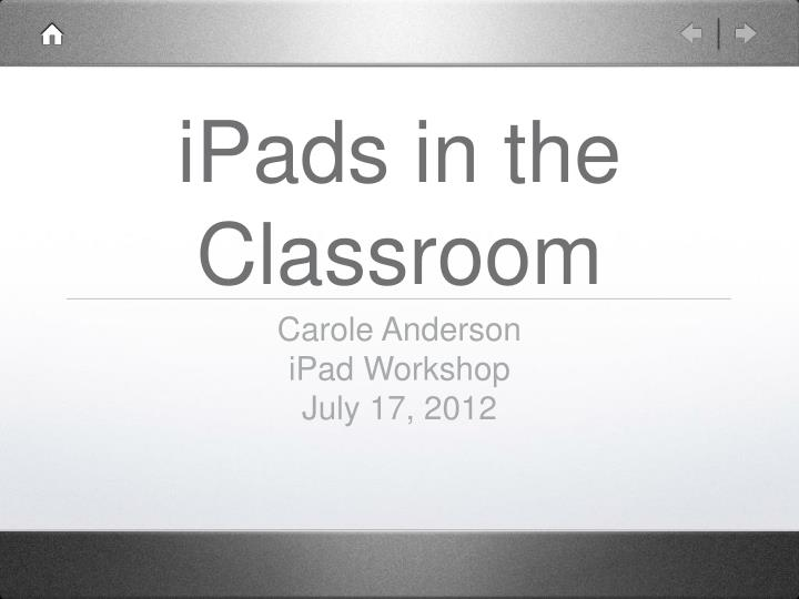 ipads in the classroom n.