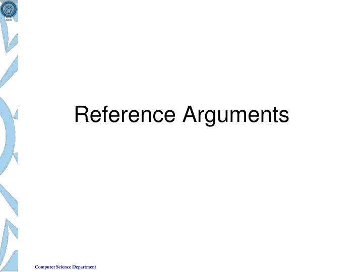 reference arguments n.