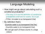 language modeling2