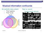 musical information confounds