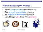 what is music representation
