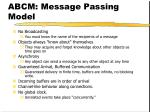 abcm message passing model