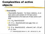 complexities of active objects
