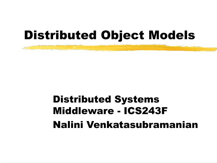 distributed object models n.