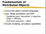 fundamentals of distributed objects