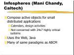infospheres mani chandy caltech
