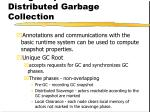 using snapshots distributed garbage collection