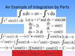 an example of integration by parts