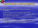 opportunities working together
