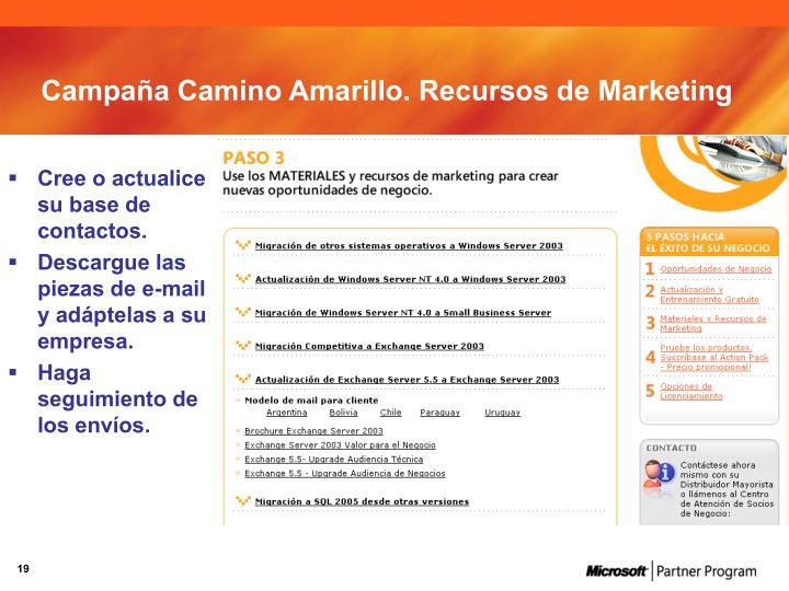 Campaña Camino Amarillo. Recursos de Marketing