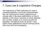 7 case law legislative changes