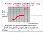 normal quantile quantile plot log