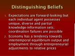 distinguishing beliefs