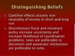 distinguishing beliefs1