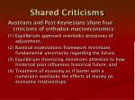 shared criticisms