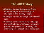 the abct story