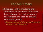 the abct story1