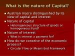 what is the nature of capital