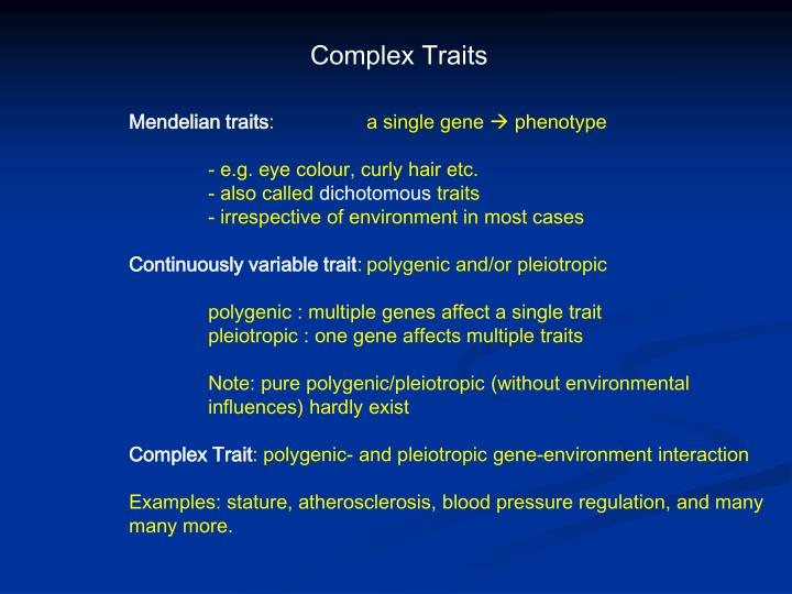 Complex Traits