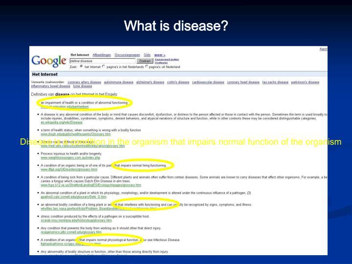 What is disease?